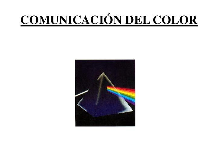 COMUNICACIÓN DEL COLOR