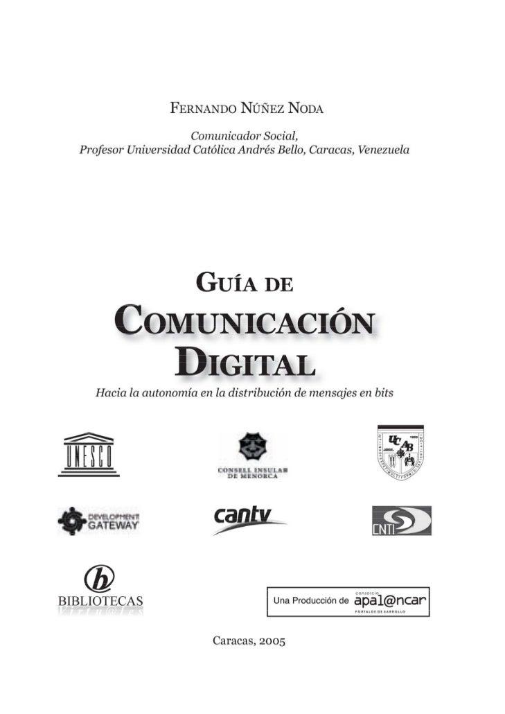 HM1206                    N8     NÚÑEZ NODA, FERNANDO                              GUÍA DE COMUNICACIÓN DIGITAL: Hacia la ...