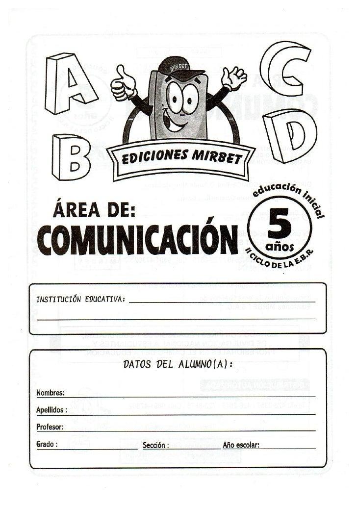Comunicacion educación inicial 5 años Slide 2