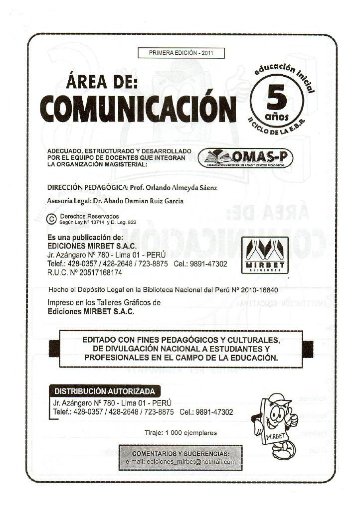 Comunicacion educación inicial 5 años Slide 3