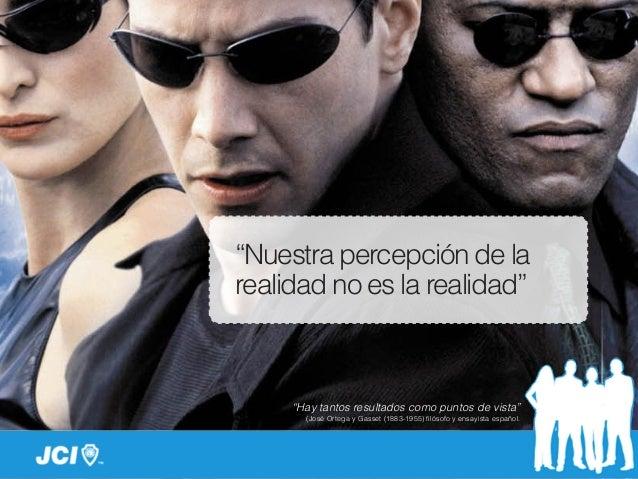 """""""Nuestra percepción de la realidad no es la realidad"""" """"Hay tantos resultados como puntos de vista"""" (José Ortega y Gasset (..."""