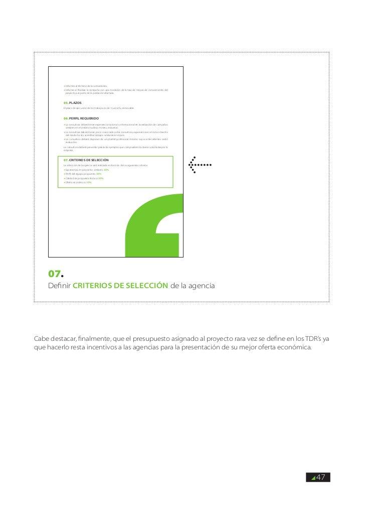 f informes    al término de las actividades.          f informe al finalizar la campaña con una medición de la tasa de mej...