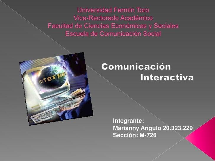 Universidad Fermín ToroVice-Rectorado AcadémicoFacultad de Ciencias Económicas y SocialesEscuela de Comunicación Social <b...