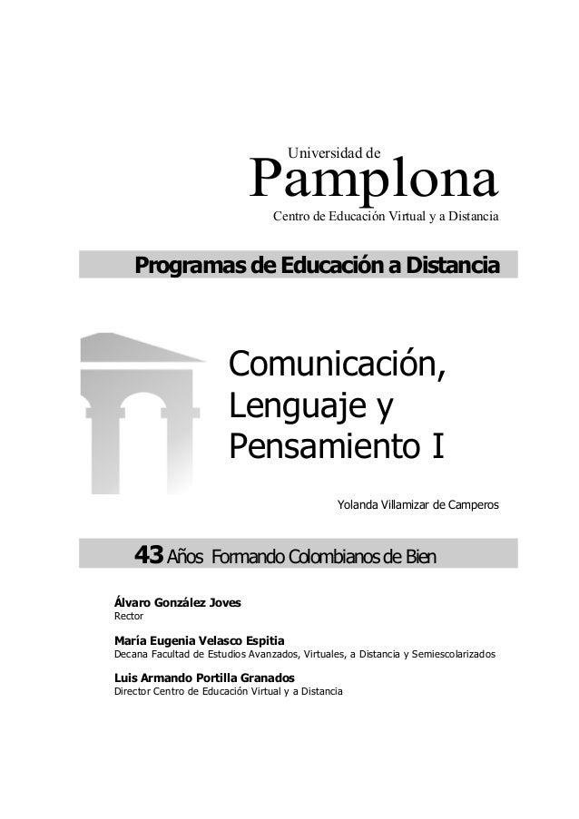 PamplonaCentro de Educación Virtual y a Distancia Programas de Educación a Distancia Yolanda Villamizar de Camperos 43Años...