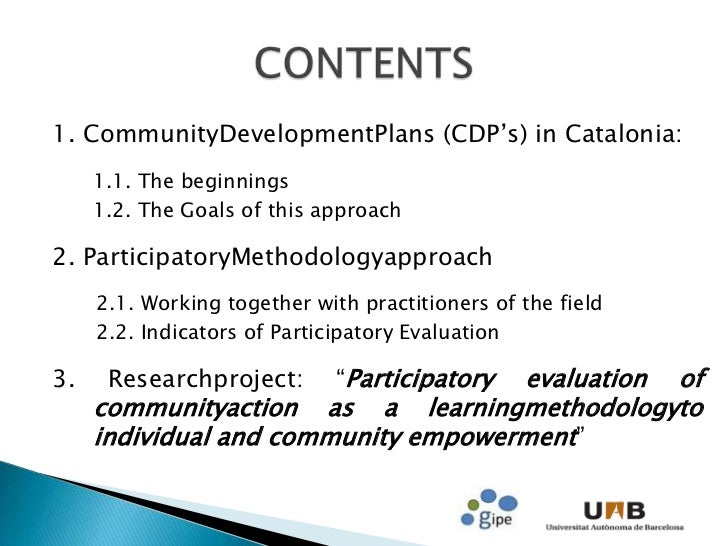indicators of community development pdf