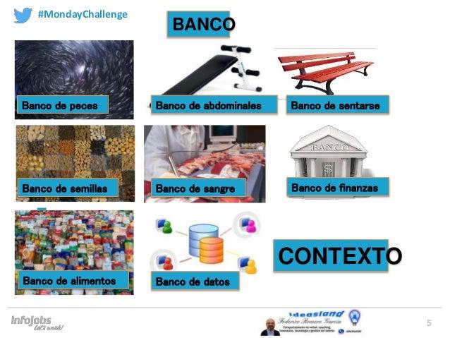 5 Banco de peces Banco de semillas Banco de alimentos Banco de datos Banco de finanzasBanco de sangre Banco de abdominales...