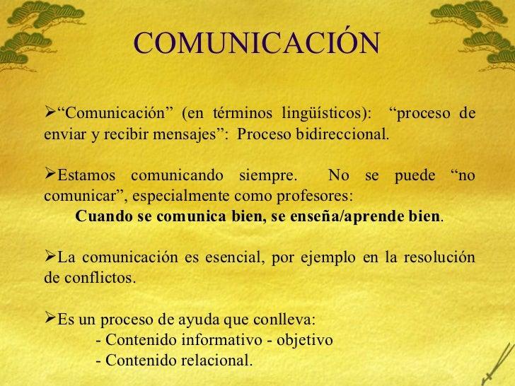 """COMUNICACI ÓN <ul><li>"""" Comunicaci ón"""" (en términos lingüísticos):  """"proceso de enviar y recibir mensajes"""":  Proceso bidir..."""