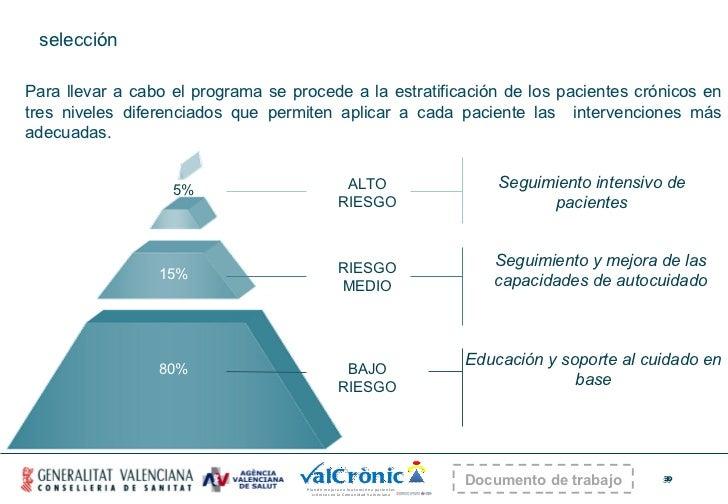selección Para llevar a cabo el programa se procede a la estratificación de los pacientes crónicos en tres niveles diferen...