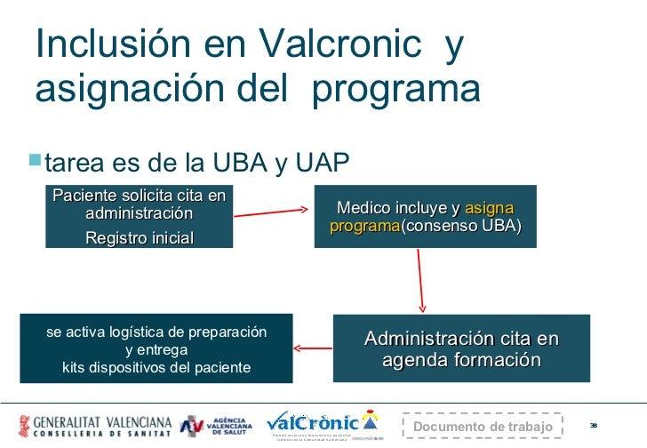 Inclusión en Valcronic  y  asignación del  programa <ul><li>tarea es de la UBA y UAP </li></ul>Paciente solicita cita en a...