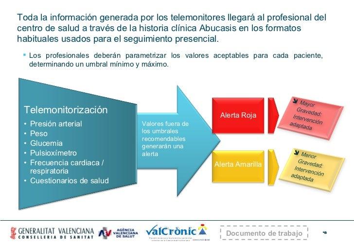 <ul><ul><li>Toda la información generada por los telemonitores llegará al profesional del centro de salud a través de la h...