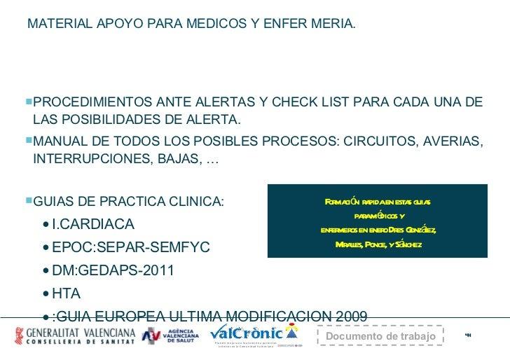 MATERIAL APOYO PARA MEDICOS Y ENFER MERIA. <ul><li>PROCEDIMIENTOS ANTE ALERTAS Y CHECK LIST PARA CADA UNA DE LAS POSIBILID...