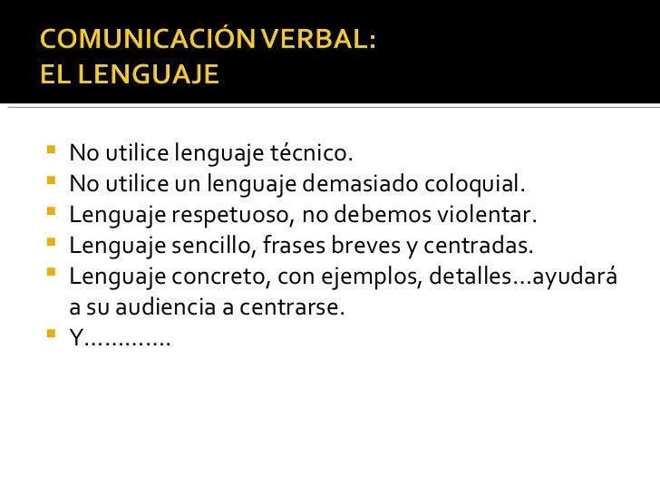Comunicacion verbal Slide 2