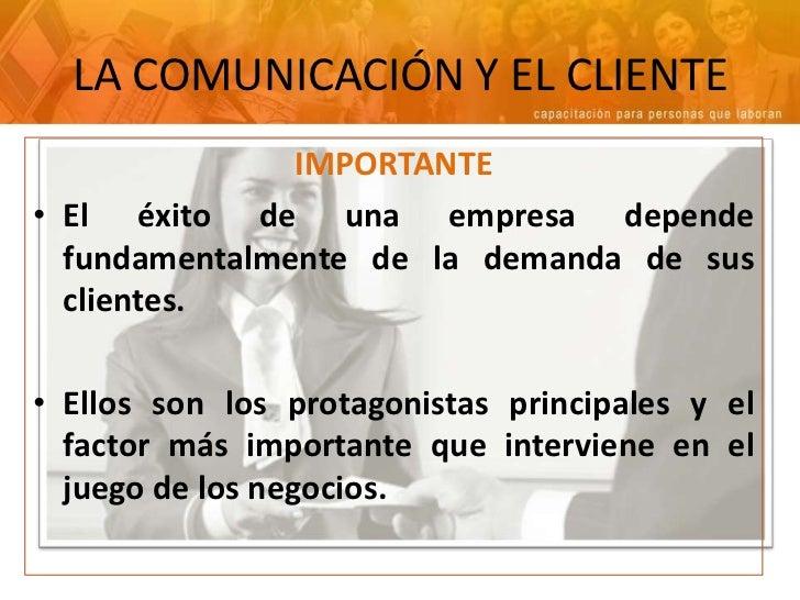 Comunicacion y atencion al cliente for Atencion al cliente