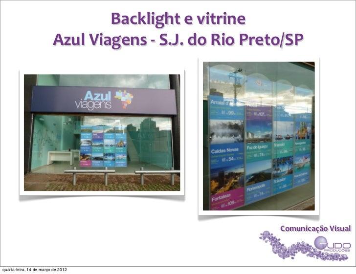 2f2793573f ... 13. Backlight e vitrine Azul Viagens ...