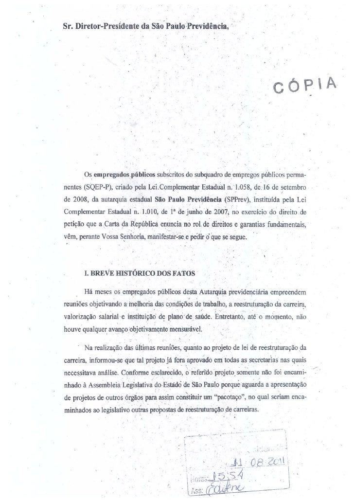 Comunicado dos funcionários da SPPREV