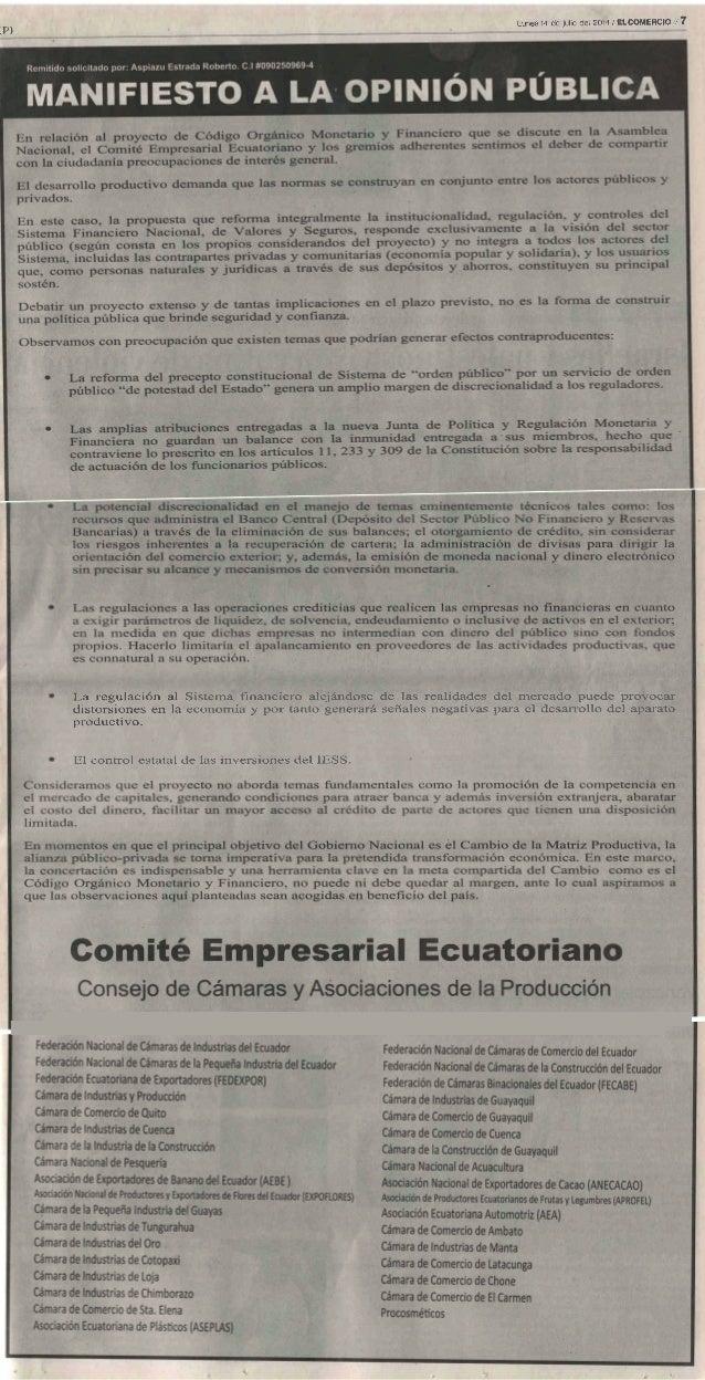 Comunicado 14-07-2014