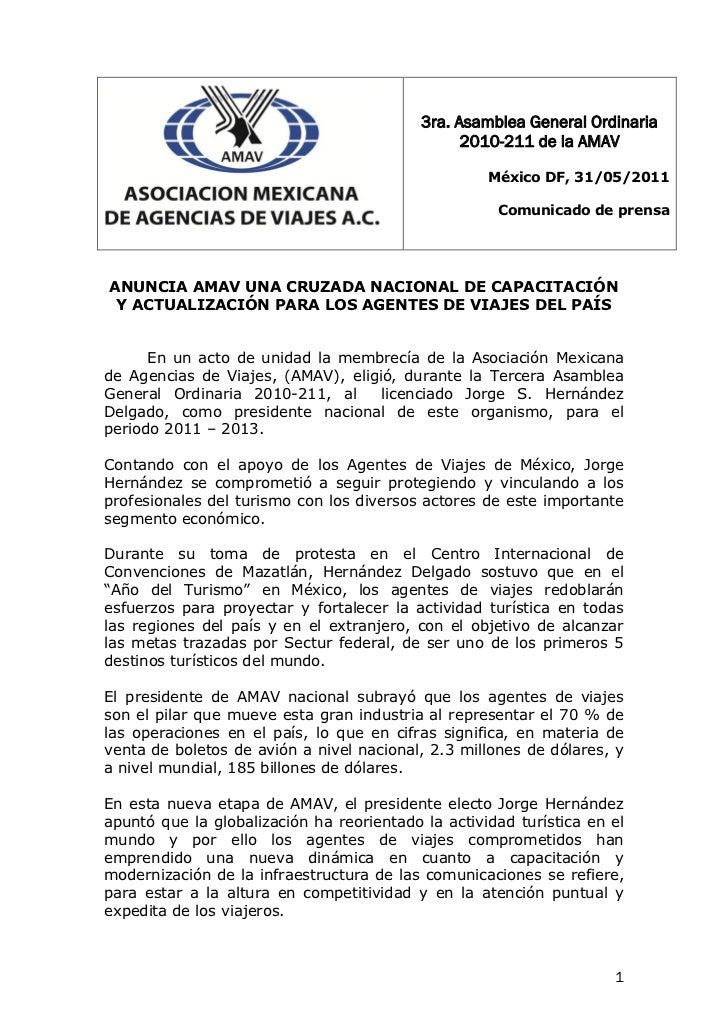 3ra. Asamblea General Ordinaria                                                 2010-211 de la AMAV                       ...