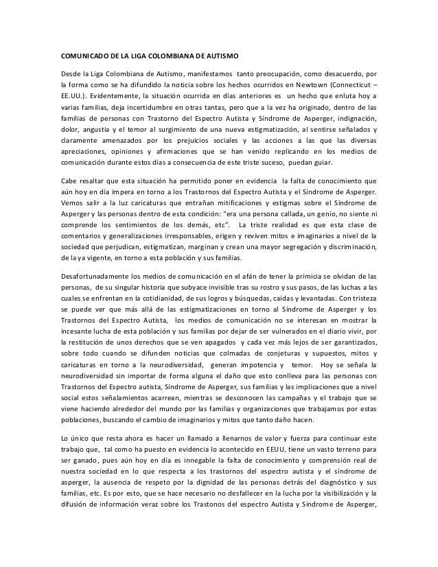 COMUNICADO DE LA LIGA COLOMBIANA DE AUTISMODesde la Liga Colombiana de Autismo, manifestamos tanto preocupación, como desa...