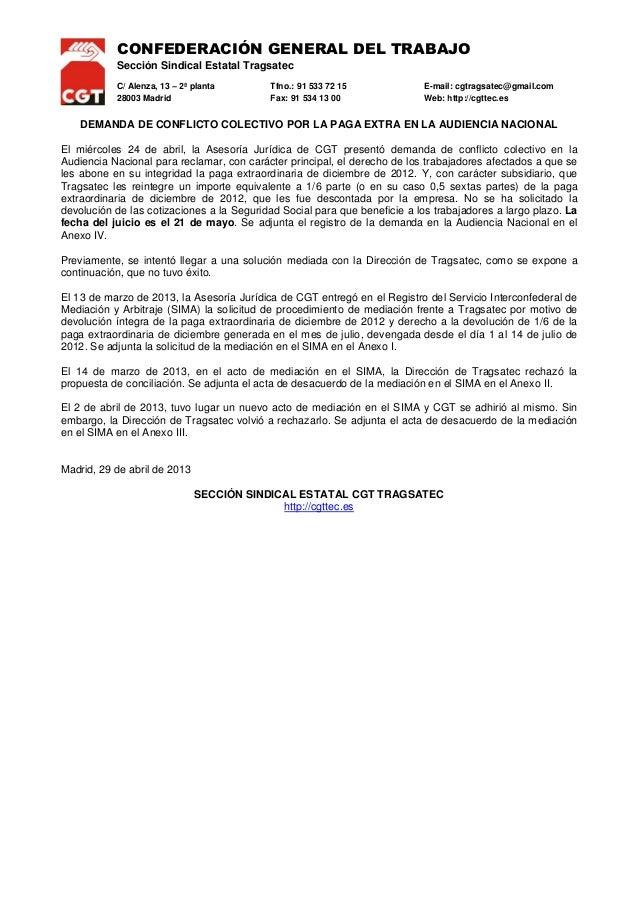 CONFEDERACIÓN GENERAL DEL TRABAJOSección Sindical Estatal TragsatecC/ Alenza, 13 – 2ª planta Tfno.: 91 533 72 15 E-mail: c...