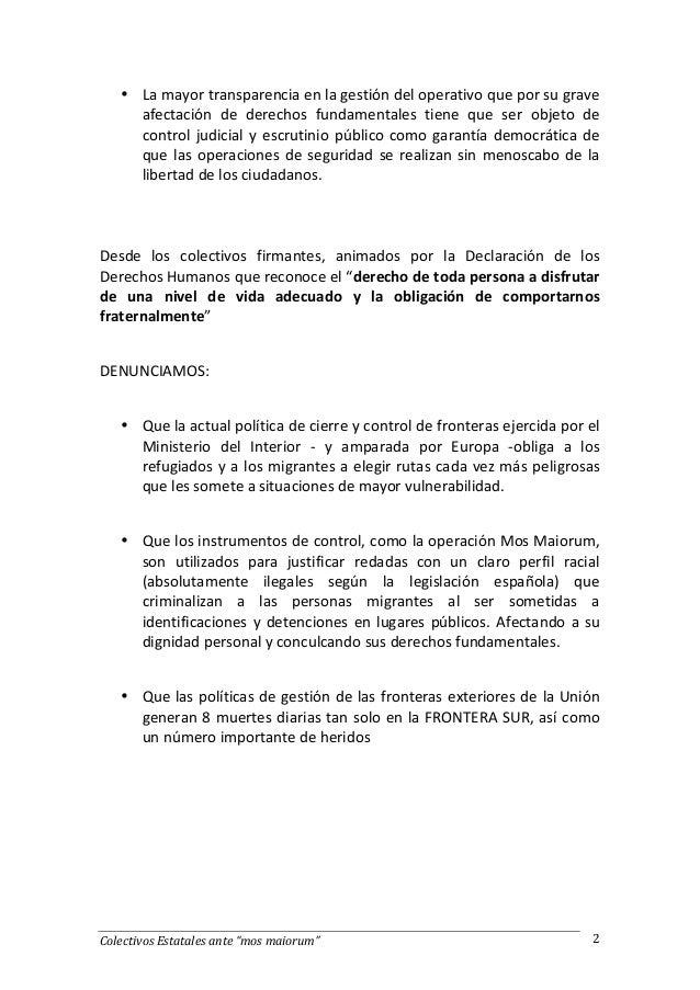 Comunicado movimientos sociales Comunicado ministerio del interior