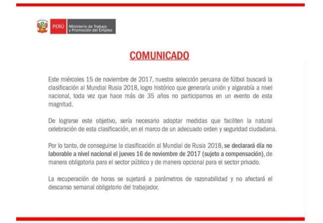 Comunicado MTPE