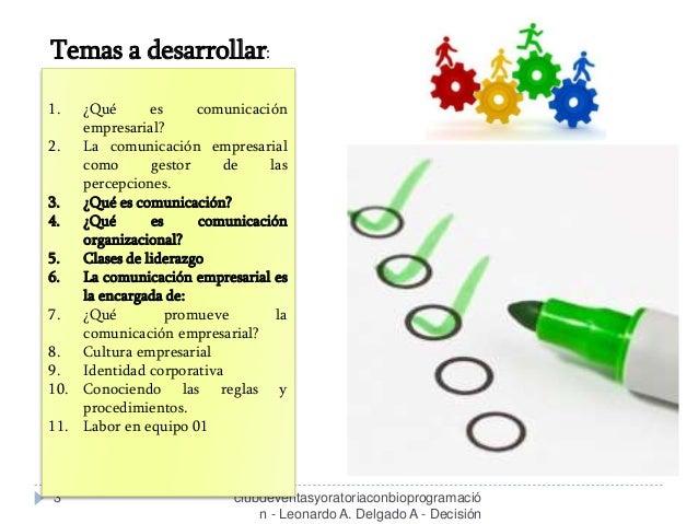 Comunicación Empresarial - Clase 01 - Curso / Taller   Slide 3