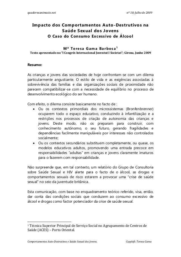 quadernsanimacio.net                                                    nº 10; Julho de 2009     Impacto dos Comportamento...