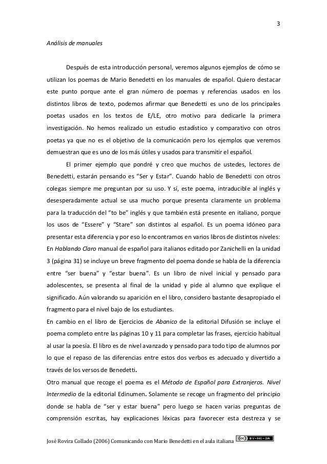 Comunicando Con Mario Benedetti En El Aula Italiana Rovira