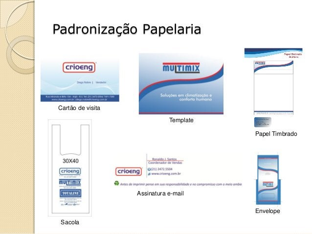 Padronização Papelaria Cartão de visita Template Papel Timbrado Sacola Assinatura e-mail Envelope
