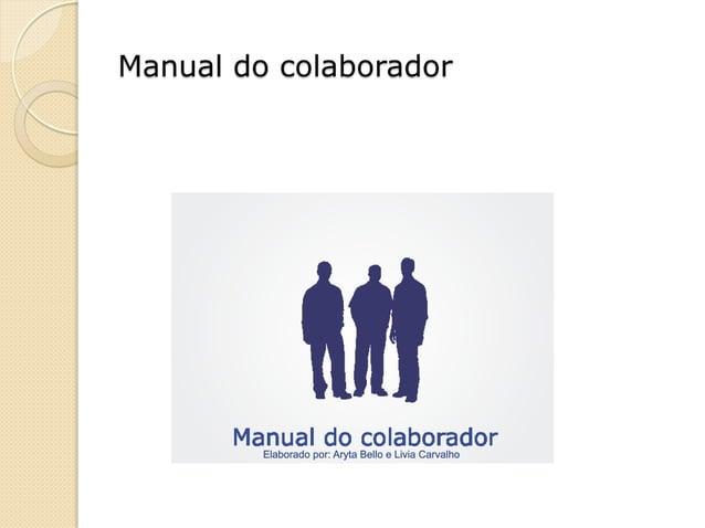 Manual do colaborador