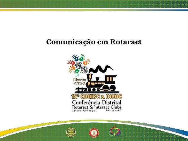 Comunicação em Rotaract