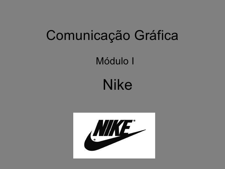 Comunicação Gráfica Módulo I Nike