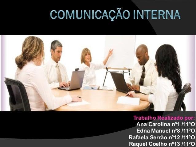 Trabalho Realizado por: Ana Carolina nº1 /11ºO Edna Manuel nº8 /11ºO Rafaela Serrão nº12 /11ºO Raquel Coelho nº13 /11ºO