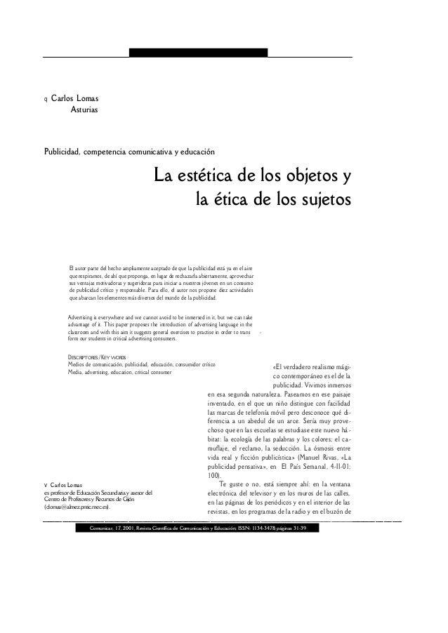 Comunicar, 17, 2001, Revista Científica de Comunicación y Educación; ISSN: 1134-3478;páginas 31-39 Publicidad, competencia...
