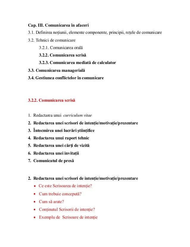 Cap. III. Comunicarea în afaceri 3.1. Definirea noţiunii, elemente componente, principii, reţele de comunicare 3.2. Tehnic...
