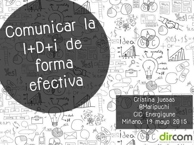 Cristina Juesas @Maripuchi CIC Energigune Miñano, 19 mayo 2015 Comunicar la I+D+i de forma efectiva