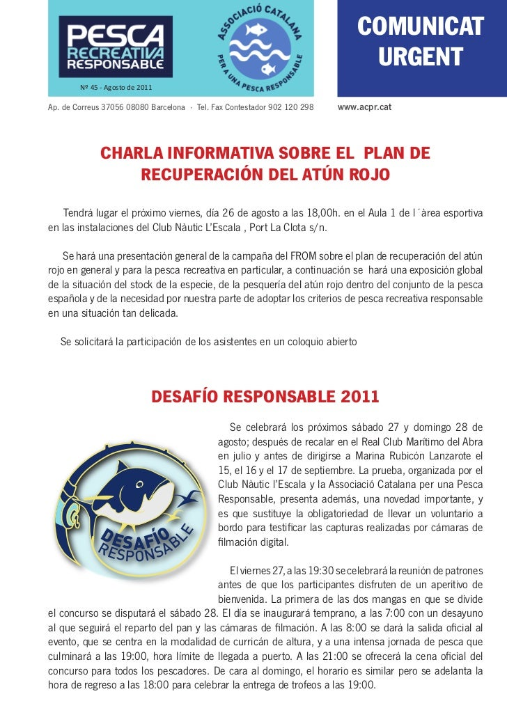 COMUNICAT                                                                               URGENT        Nº 45 - Agosto de 20...