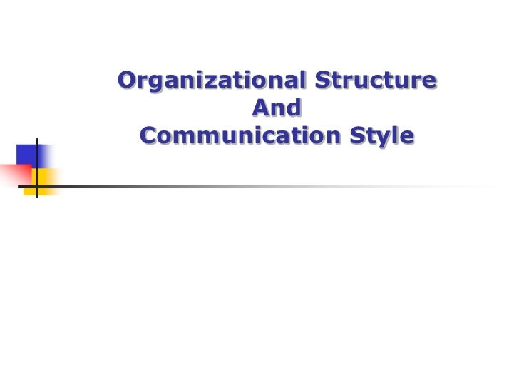 Organizational StructureAnd Communication Style<br />