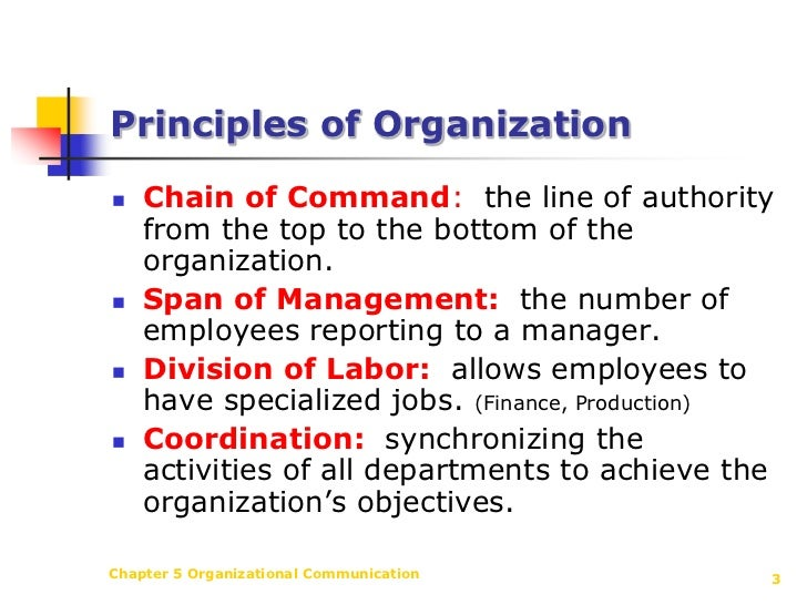 principles of organizational communication Principles of effective security awareness (sa) communication a sa communication plan is based on the following key principles of effective organizational communication.