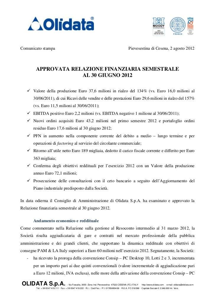 Comunicato stampa                                                                                      Pievesestina di Ces...