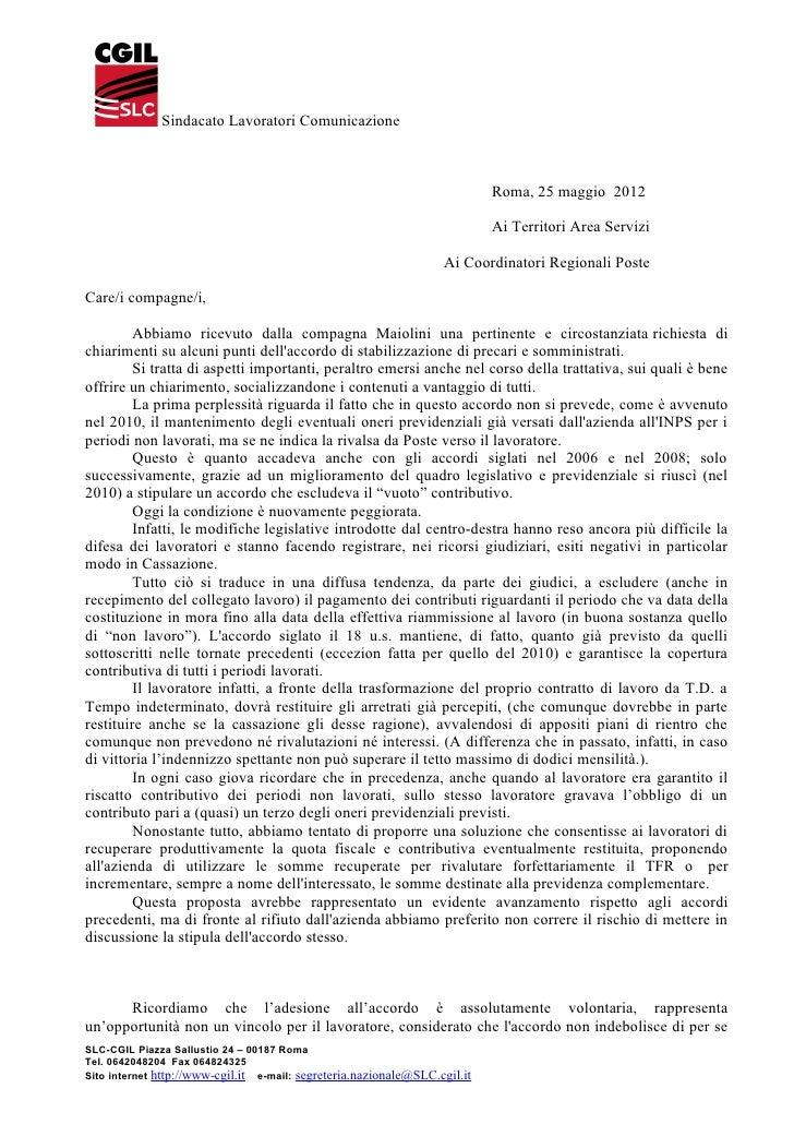 Sindacato Lavoratori Comunicazione                                                                            Roma, 25 mag...