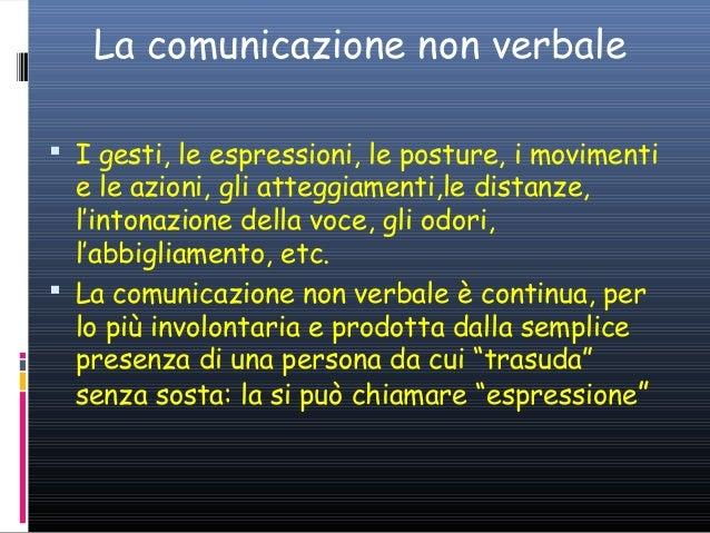 La comunicazione non verbale  I gesti, le espressioni, le posture, i movimenti  e le azioni, gli atteggiamenti,le distanz...
