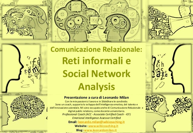 Slide n°: 1 Comunicazione Relazionale: Reti informali e Social Network Analysis Presentazione a cura di Leonardo Milan Con...