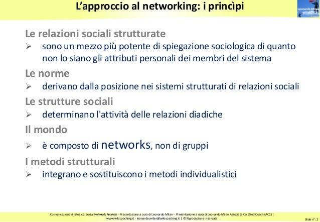 Comunicazione relazionale.  Reti informali e Social Network Analysis Slide 2
