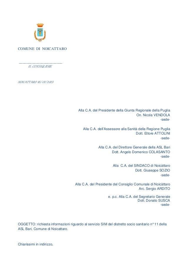 COMUNE DI NOICATTARO_______________________       IL CONSIGLIERENOICATTARO 16/01/2013                                     ...