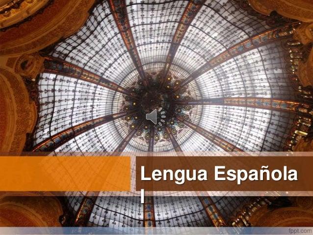 Lengua EspañolaI
