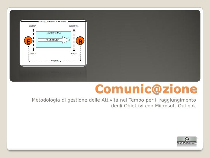 Comunic@zione Metodologia di gestione delle Attività nel Tempo per il raggiungimento                                    de...