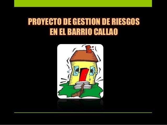 PROYECTO DE GESTION DE RIESGOS EN EL BARRIO CALLAO