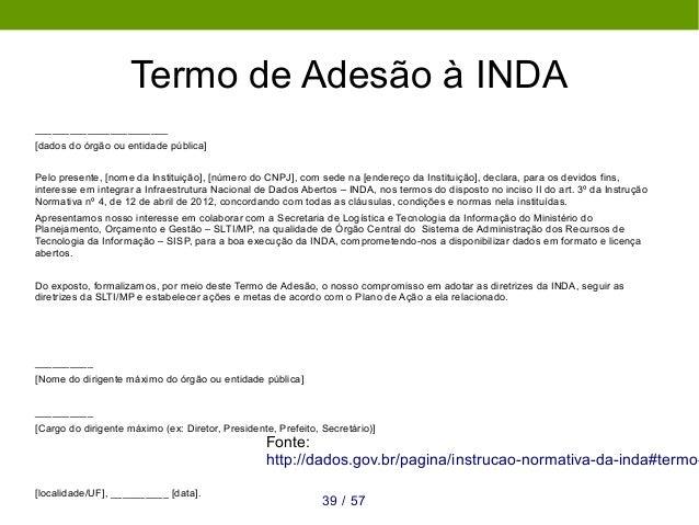 Metadados da INDA Metadados obrigatórios 1. Título: Nome do conjunto de dados. 2. Descrição: Uma breve explicação sobre os...