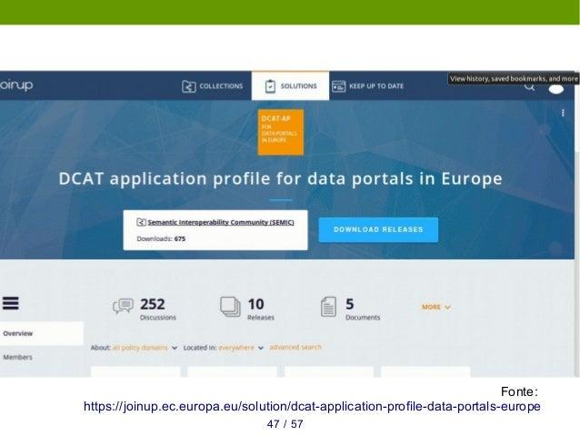 Linked Open Data ● Padrões do W3C para adicionar semântica aos dados ● Possibilita raciocínio e integrações automatizadas ...